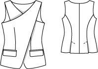 Line drawing Burda 05/2014 #132